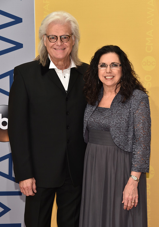 . Ricky Skaggs, left, and Sharon White arrive at the 50th annual CMA Awards at the Bridgestone Arena on Wednesday, Nov. 2, 2016, in Nashville, Tenn. (Photo by Evan Agostini/Invision/AP)