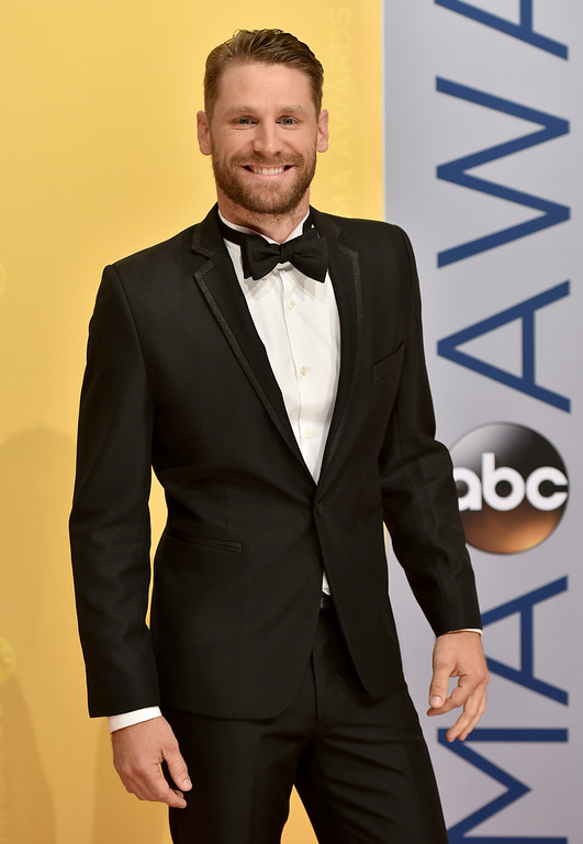 . Chase Rice arrives at the 50th annual CMA Awards at the Bridgestone Arena on Wednesday, Nov. 2, 2016, in Nashville, Tenn. (Photo by Evan Agostini/Invision/AP)