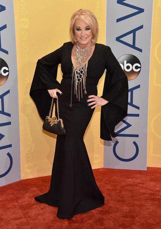 . Tanya Tucker arrives at the 50th annual CMA Awards at the Bridgestone Arena on Wednesday, Nov. 2, 2016, in Nashville, Tenn. (Photo by Evan Agostini/Invision/AP)