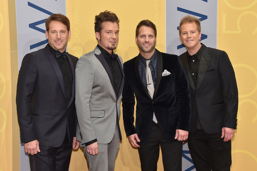 . Parmalee arrives at the 50th annual CMA Awards at the Bridgestone Arena on Wednesday, Nov. 2, 2016, in Nashville, Tenn. (Photo by Evan Agostini/Invision/AP)