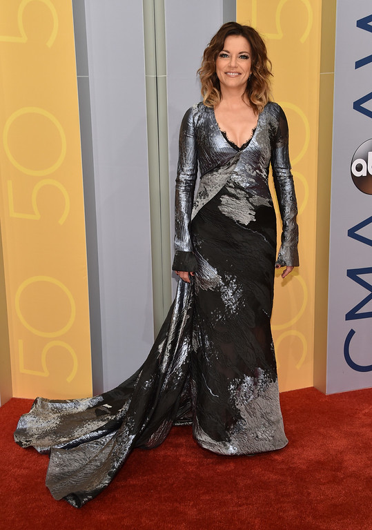 . Martina McBride arrives at the 50th annual CMA Awards at the Bridgestone Arena on Wednesday, Nov. 2, 2016, in Nashville, Tenn. (Photo by Evan Agostini/Invision/AP)