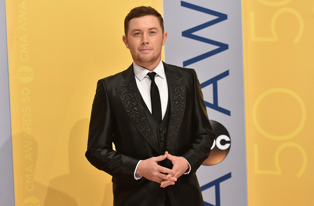 . Scotty McCreery arrives at the 50th annual CMA Awards at the Bridgestone Arena on Wednesday, Nov. 2, 2016, in Nashville, Tenn. (Photo by Evan Agostini/Invision/AP)