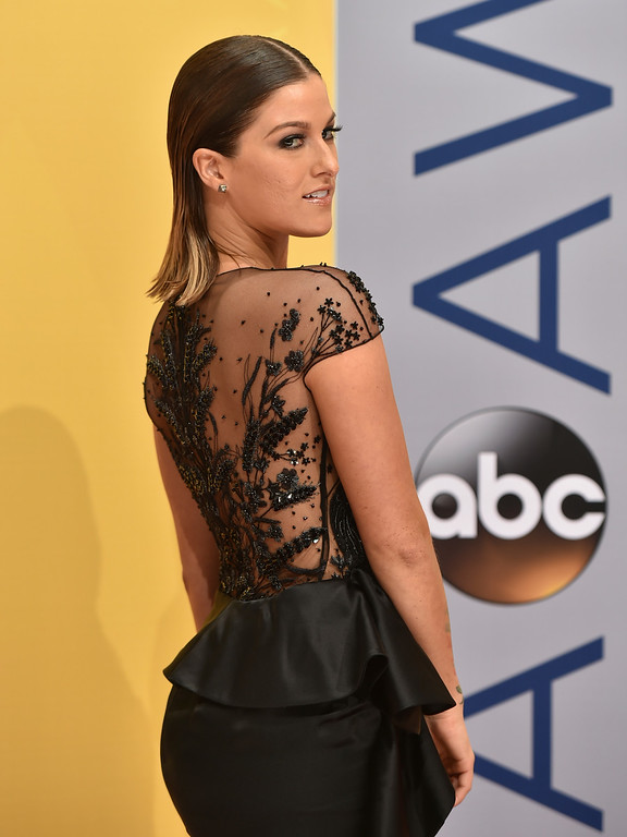 . Cassadee Pope arrives at the 50th annual CMA Awards at the Bridgestone Arena on Wednesday, Nov. 2, 2016, in Nashville, Tenn. (Photo by Evan Agostini/Invision/AP)
