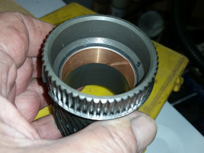 New bushing for rear planetary sun gear pressed in.