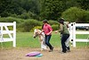 """Ericka Fletcher and her horse """"Peach"""" enter the ring for the obstacle course competition at the Guilford Fair on Sunday; KELLY FLETCHER, REFORMER CORRESPONDENT"""