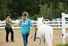 """Daniela Rathke enters the ring with her horse, """"April"""" to compete in the obstacle course competition at the Guilford Fair on September 1; KELLY FLETCHER, REFORMER CORRESPONDENT"""