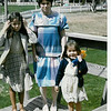 March 1985 - Easter - me, Krista and Morgan