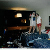 NYE in Muscatine - after we trashed our room (hopped up on pop)