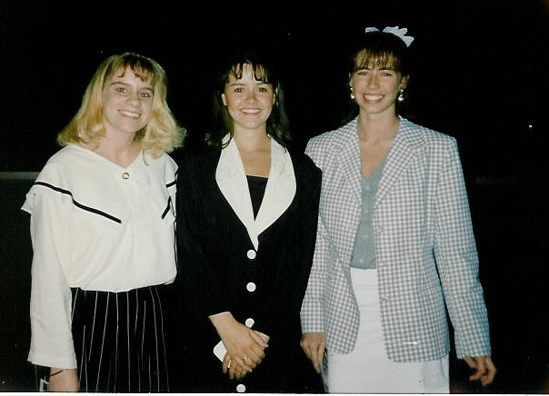 National Honor Society - Jenny, me, Jenny - Spring 1992?