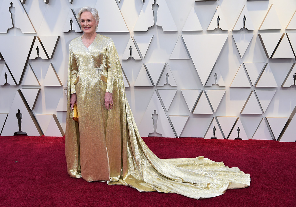 . Glenn Close arrives at the Oscars on Sunday, Feb. 24, 2019, at the Dolby Theatre in Los Angeles. (Photo by Richard Shotwell/Invision/AP)