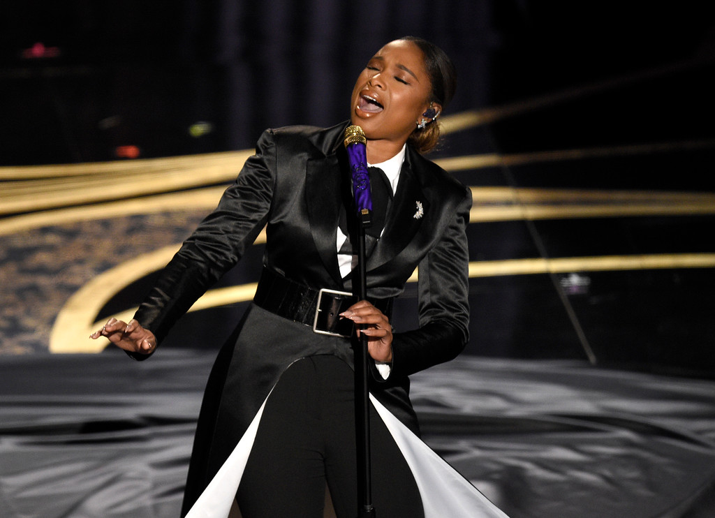 ". Jennifer Hudson performs ""I\'ll Fight\"" from RBG at the Oscars on Sunday, Feb. 24, 2019, at the Dolby Theatre in Los Angeles. (Photo by Chris Pizzello/Invision/AP)"