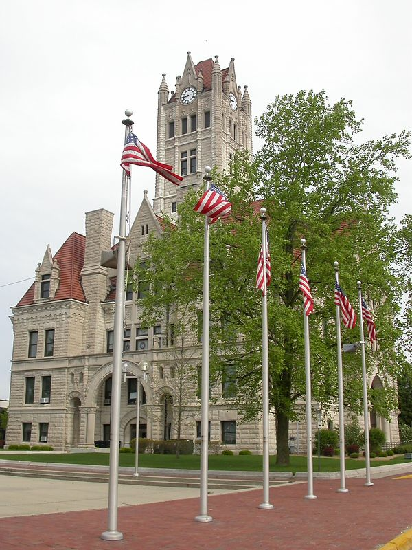 Hancock County Courthouse, Greenfield, Indiana. May 2004.