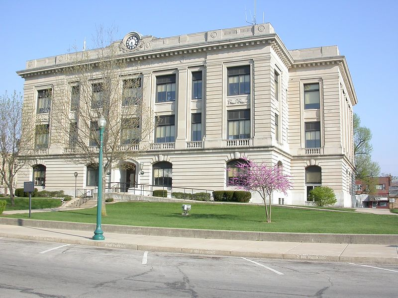 Carroll County Courthouse, Delphi, Indiana, April 2004.
