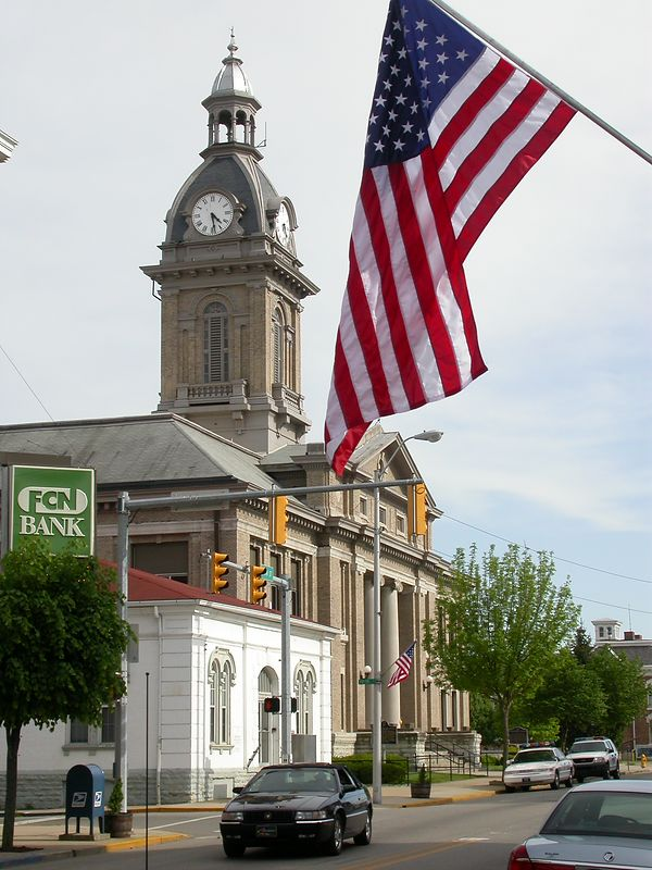 Franklin County Courthouse, Brookville, Indiana, May 2004.