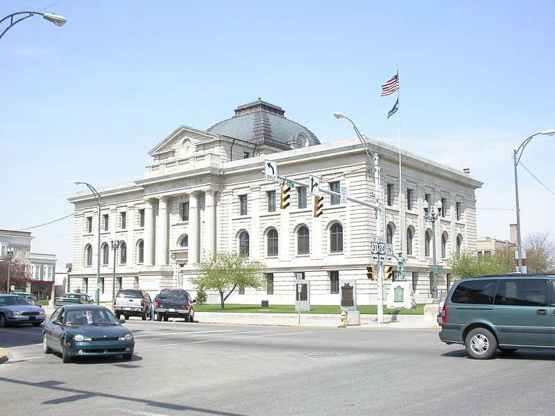 Miami County Indiana Courthouse, Peru, Indiana, April 2004
