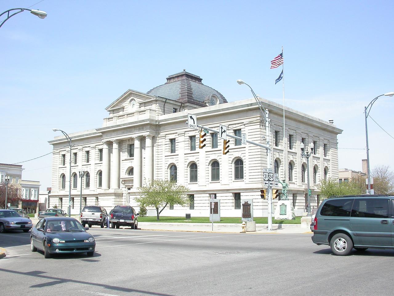 Miami County Indiana Courthouse, Peru, Indiana, April 2004