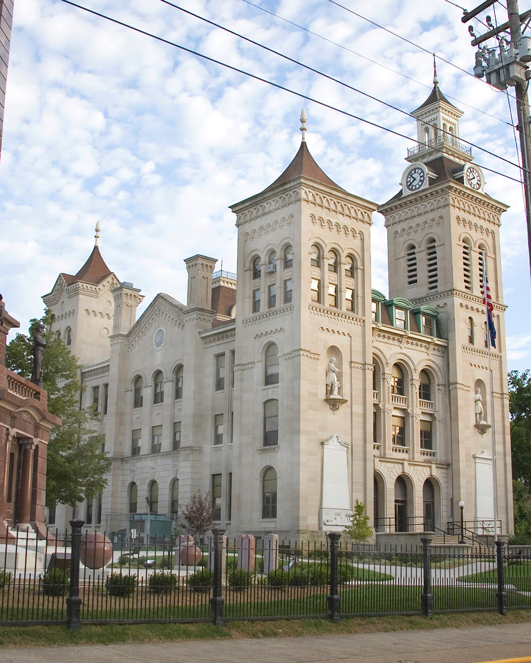 Knox County Courthouse, Vincennes, Indiana, August 14, 2008.
