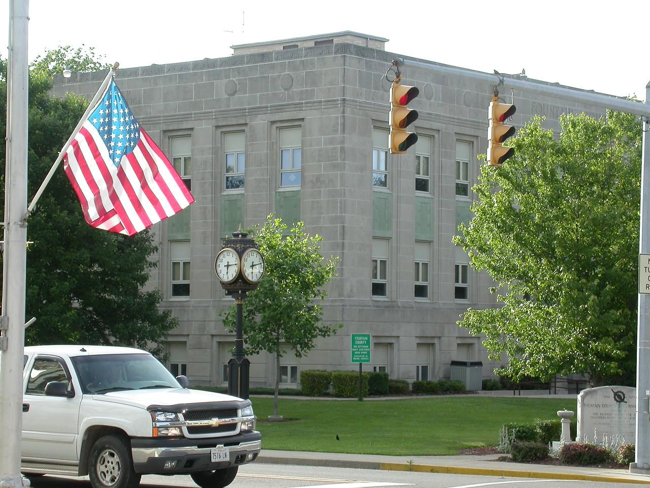 Fountain County Courthouse, Covington, Indiana, May 2004.
