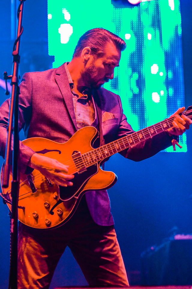 The British funk band from Leeds, England headlied the main stage at the ARISE Music Festival, Saturday, August 6, 2016, held on Sunrise Ranch outside of Loveland Colorado.  Though from Leeds, front man and guitarist Eddy Roberts now resides in Denver.