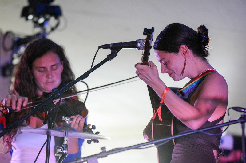 Bridget and Bonie of Elephant Revival perform during the ARISE Music Festival, Friday, August 6, 2016.