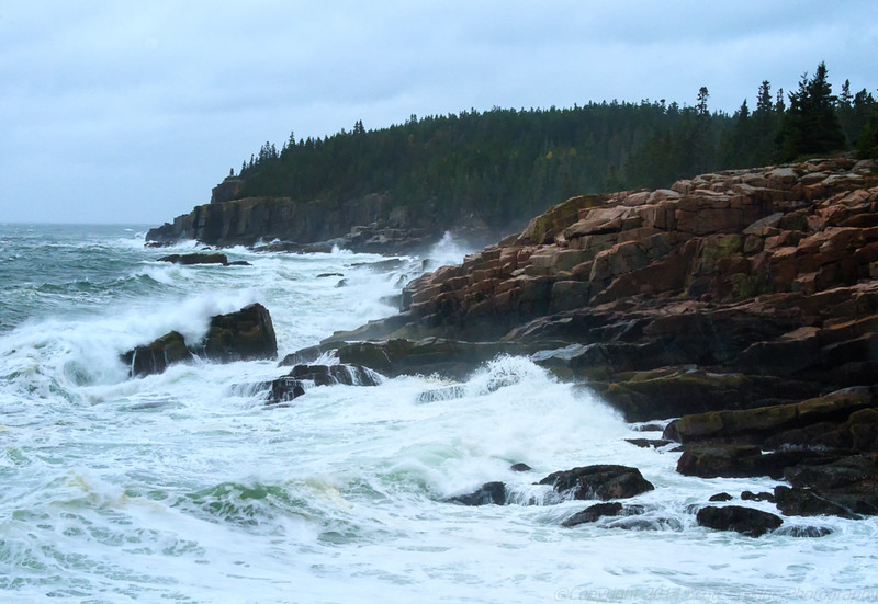 October Storm, Otter Cliffs from Monument Cove    October 2014
