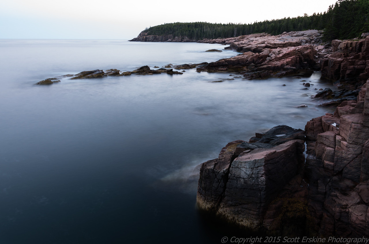 Otter Cliffs, Blue Hour