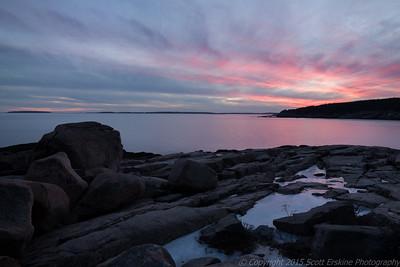 Winter Sunset, Otter Point, Acadia National Park