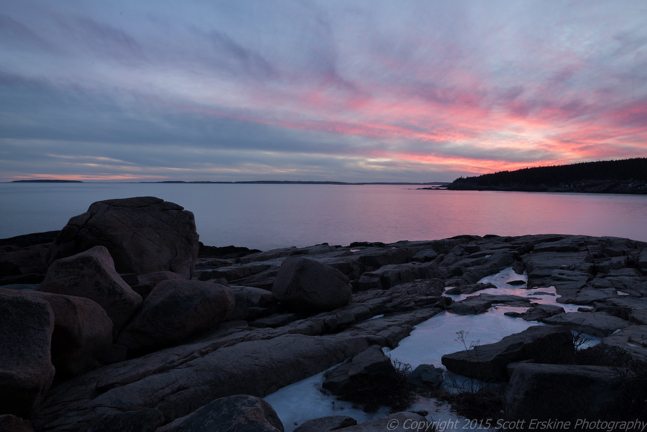 Winter Sunset, Otter Point, Acadia National Park