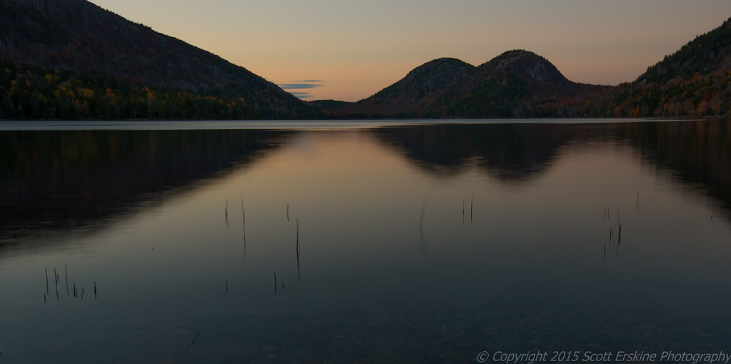 The Bubbles and Jordan Pond,  Sunset Stillness