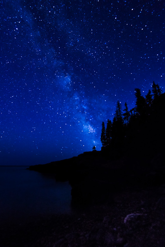 Little Hunters Beach and the Milky Way