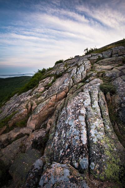 Cadillac Mountain Granite and Lichen