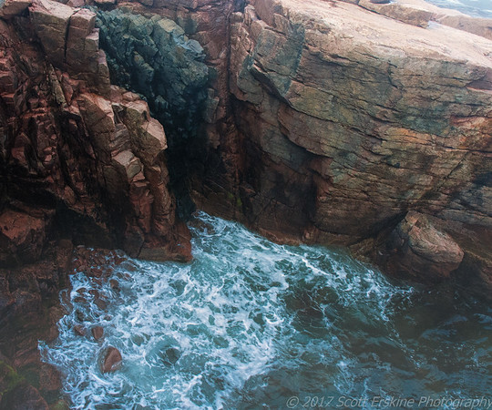 Granite and Surf and Fog, Near Thunder Hole