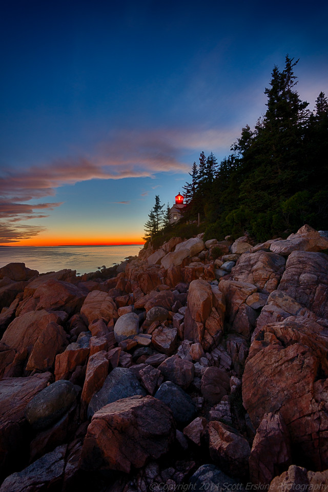 Bass Harbor Afterglow,  September 2014