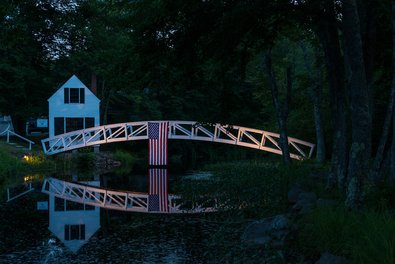 Selectmans Building, Somesville Maine, July 4th Evening