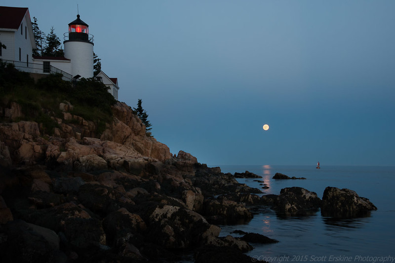 Bass Harbor Moon Rise    August 2014