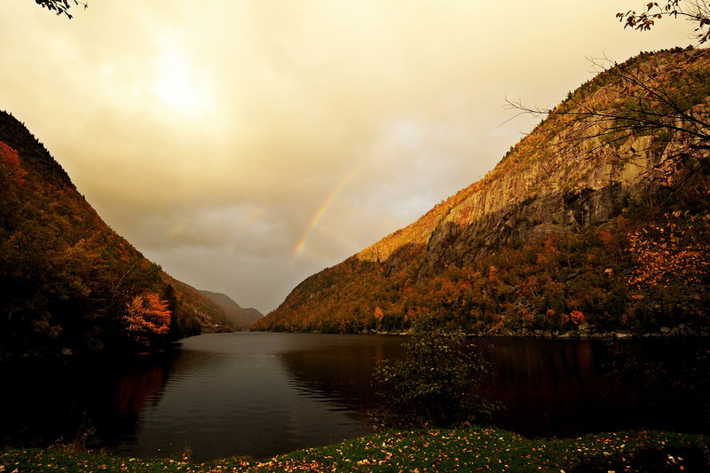 Rainbow over Cascade Lake