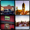 Saranac Lake Village collage