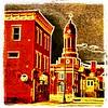 Little Italy & Harrietstown Town Hall from Main Street bridge