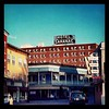 Hotel Saranac & Dew Drop Inn - iconic signs as seen from Broadway, Saranac Lake, NY