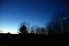 Moon and Whiteface Mountain at Sunrise, Cedar Eden, 3/9/10