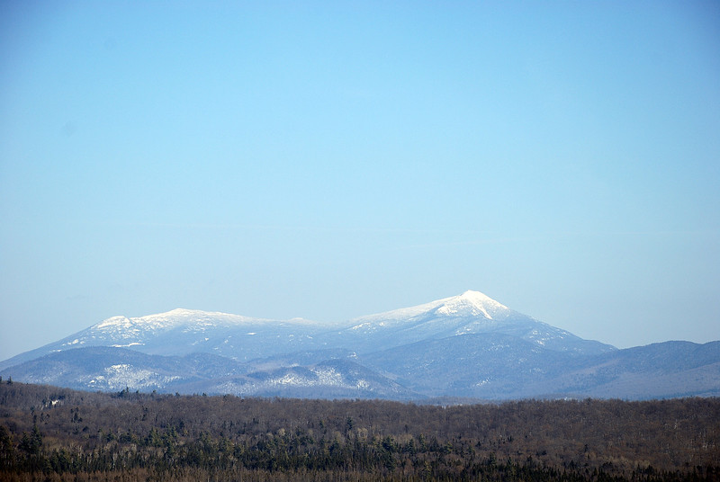 Ester and Whiteface Mountains from Harrietstown Hill, 3/7/9