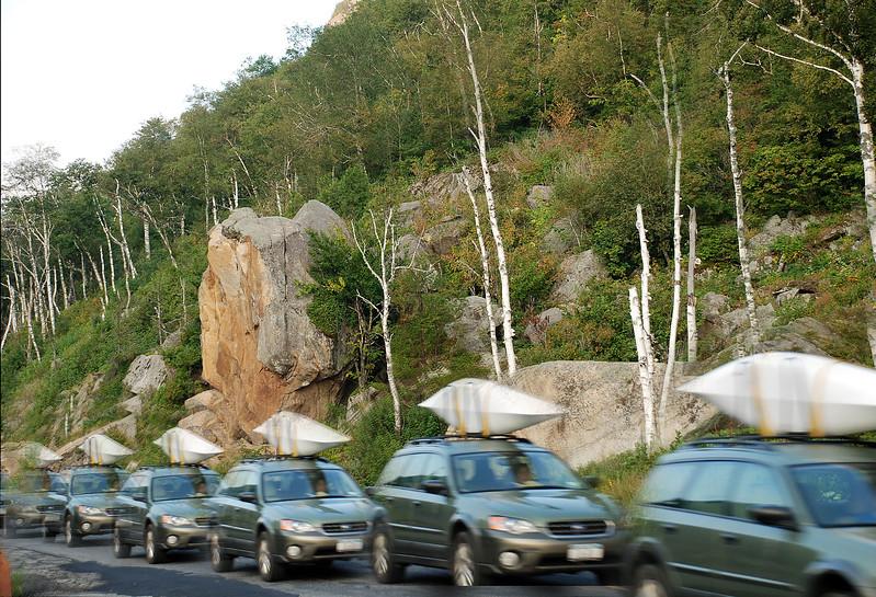 Cascade Lake Notch/Pass - Leaning Rock