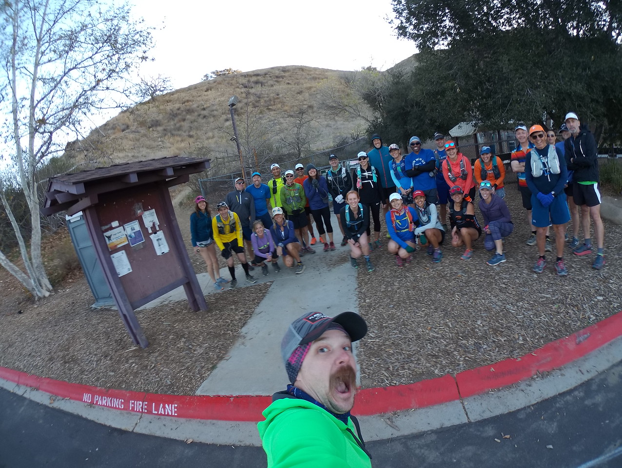 Singletrack stampede training run 2 - sweeper duties 02-17-2018