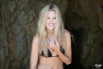 Nikon D800E Photos of Bikini Swimsuit Model in Sea Cave