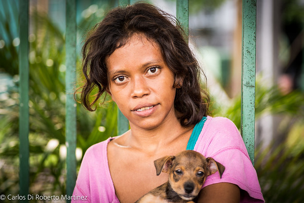 Underage Prostitute and her new dog