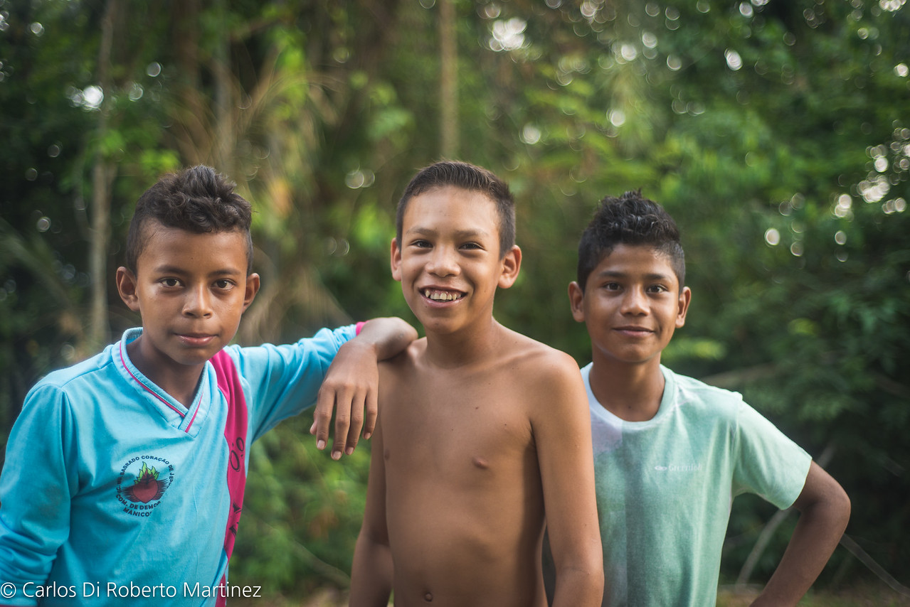 Boy living in Acai and Brazil Nut extraction farm