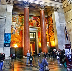 The Southern Mural in the Lobby of the American Museum of Natural History
