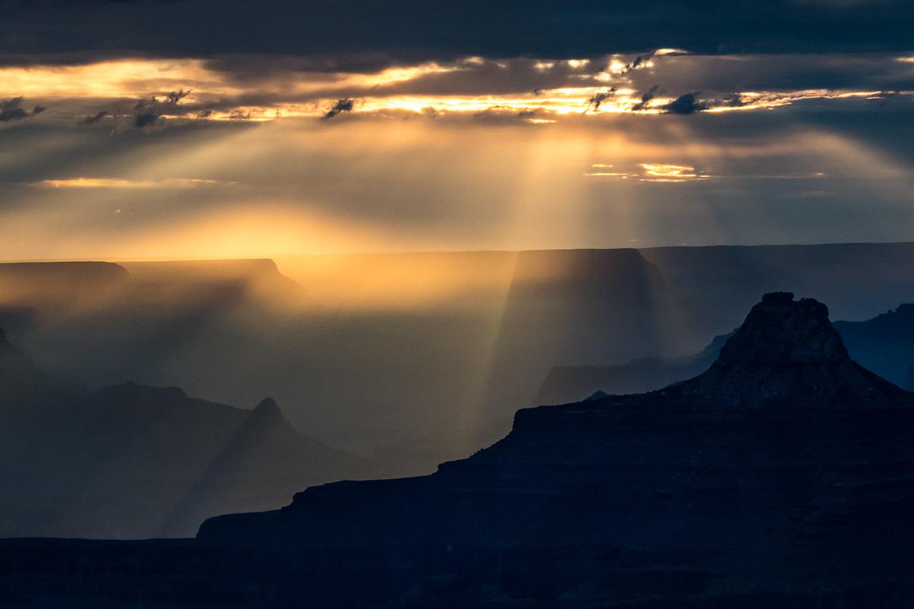 Sunset Rays, Grand Canyon
