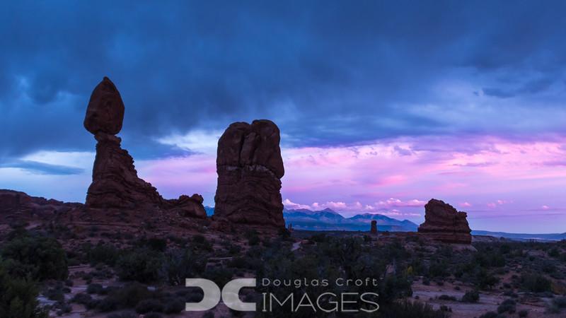 Sunset at Balanced Rock