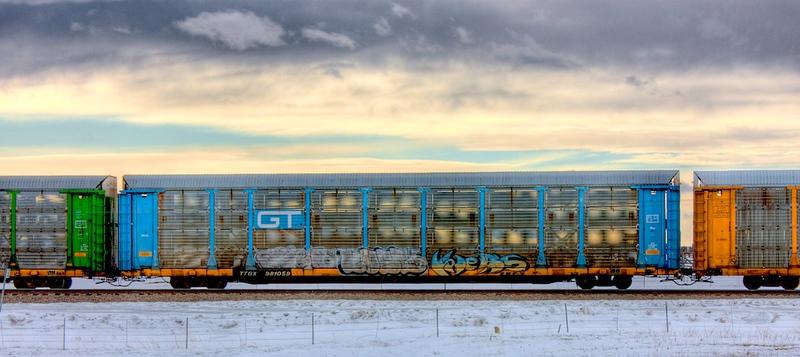 Train outside Laramie, WY